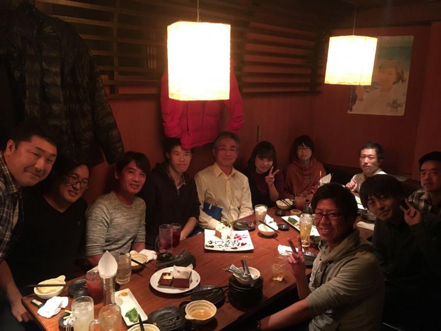 まる。幕張店で、高山秀一の前職、まくはりの郷の送別会がありました